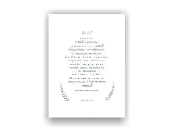 drobė laiškas meilei_baltai balta